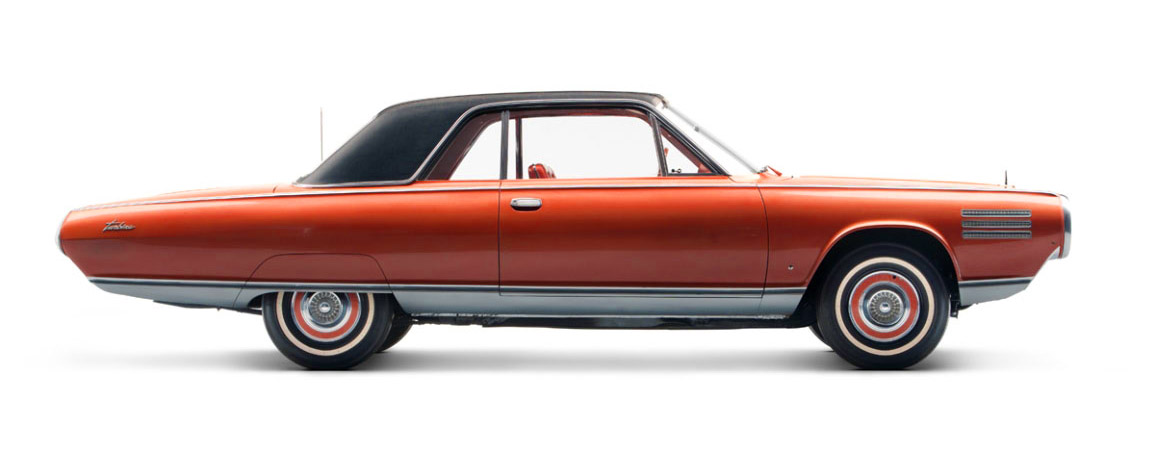 The profile of the Chrysler Ghia Turbine test car. Image courtesy of www.carstyling.ru